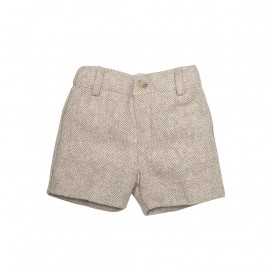 Woven Brown Shorts