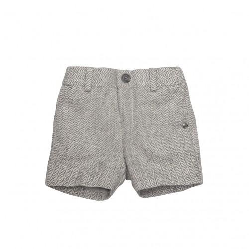 Woven Grey Shorts
