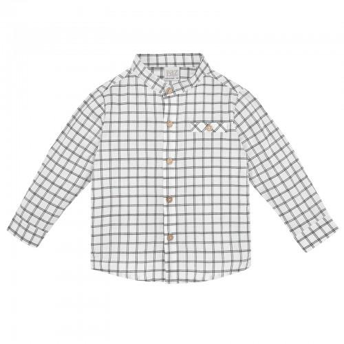 White Checked Shirt