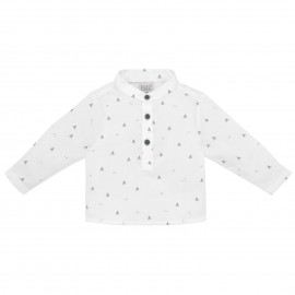 White Woodland Print Shirt