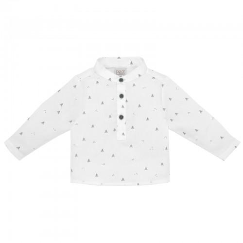 White Woodland Print Shirt