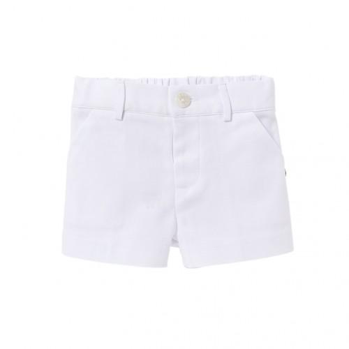 Puerto White Woven Shorts