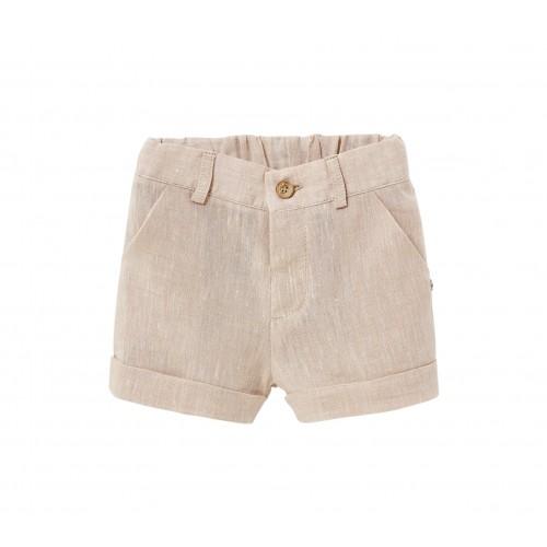 Oasis Beige Linen Shorts