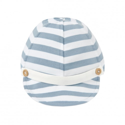 White and Blue Striped Hat
