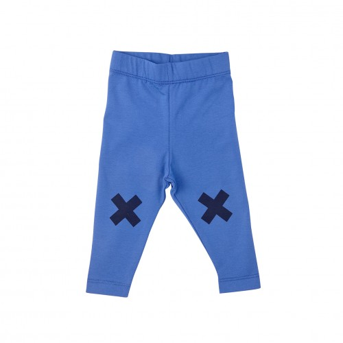 Blue Logo Leggings