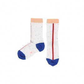 White Line Melange Socks