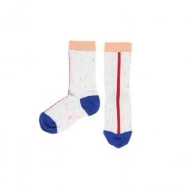 White Line Melange Socks