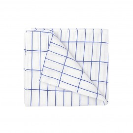 White & Blue Grid Swaddle