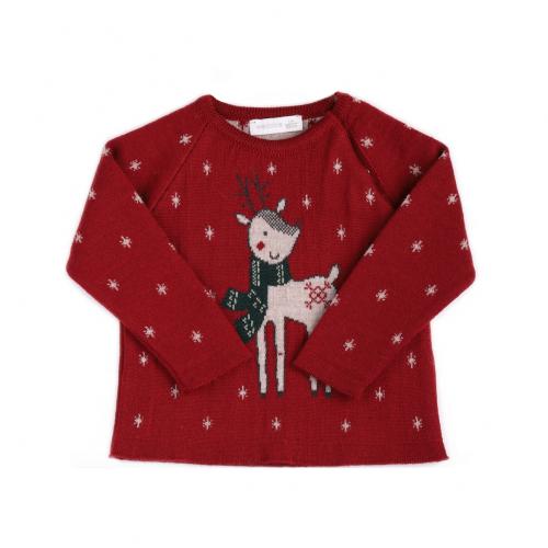 Red Reindeer Jumper