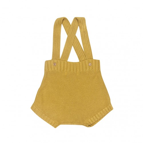 Knit Bloomers Dungaree in Lime