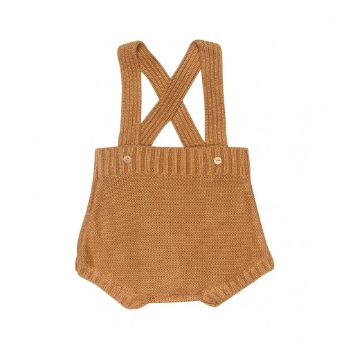 Knit Bloomers Dungaree in Camel