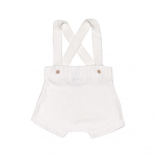 Knit Bloomers Dungaree in Pearl