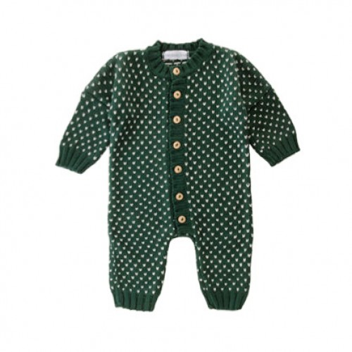 Pickle Dots Knit Romper