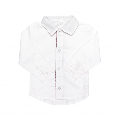 White Shirt with Red Twill
