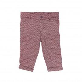 Red Herringbone Trousers