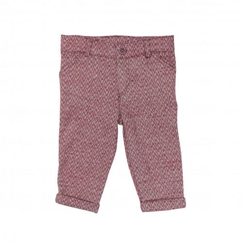 Red Herringbone Trousers