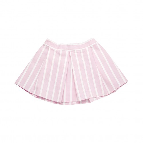 Pink Striped Skirt