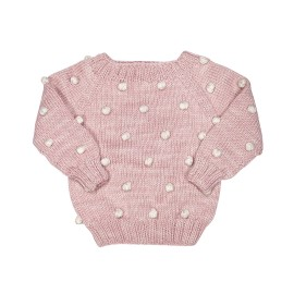 Hand-knitted Viola Pink Sweater