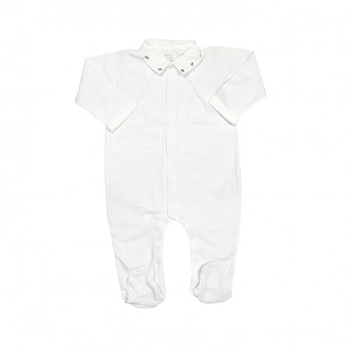 Leaves Embroidery Babygrow