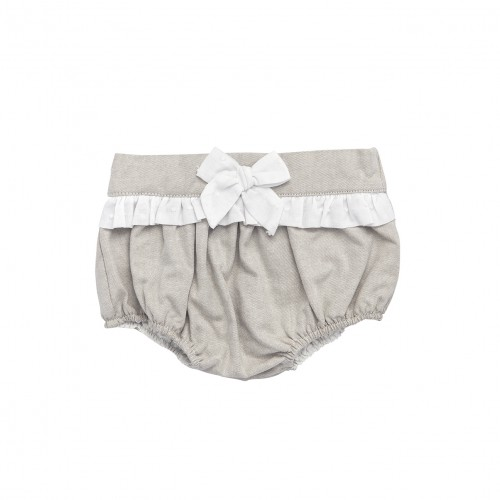 Beige Bloomers with Ribbon