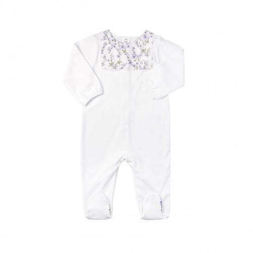 Floral Print White Bodysuit